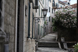 narrow streets of the old European city landscape - 79211224