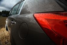 Fragment Of Metal Car Headlights