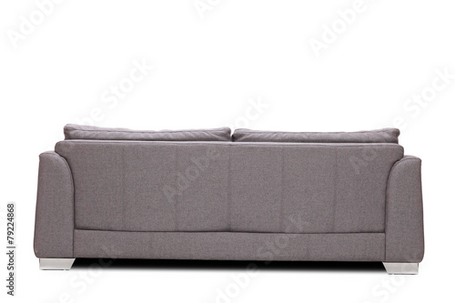 Carta da parati Rear view studio shot of a modern gray sofa