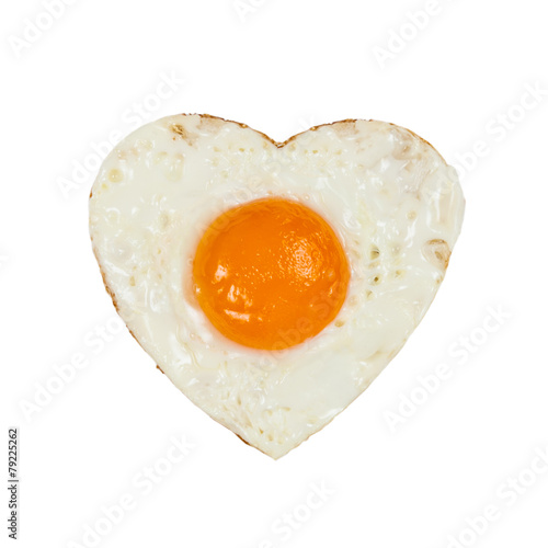 Foto op Plexiglas Gebakken Eieren Fried eggs in ideal heart