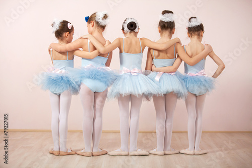 Group of five little ballerinas Wallpaper Mural