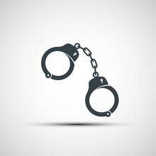 Vector Icons Of Handcuffs