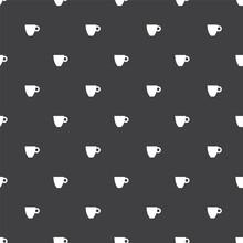 Tea Cup, Vector Seamless Pattern .