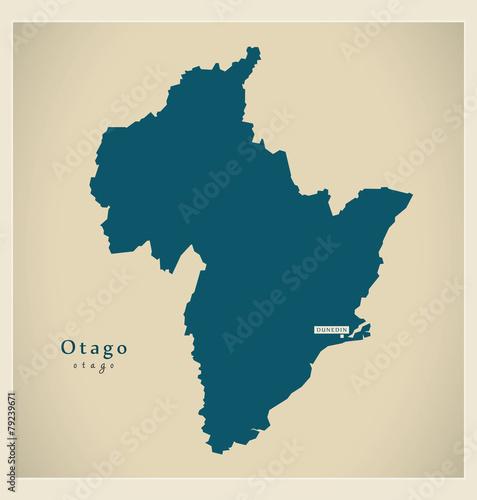 Photo  Modern Map - Otago NZ