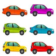 Colorful Cars Illustration