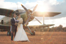 Wedding Couple In Love Vintage...