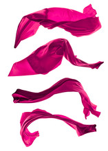 Abstract Pink Silk On White Background
