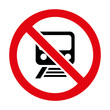 No train sign icon great for any use. Vector EPS10.