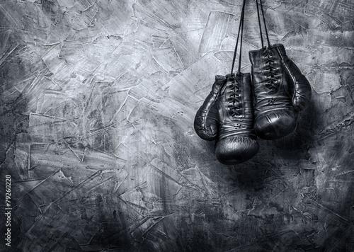 Fényképezés old boxing gloves