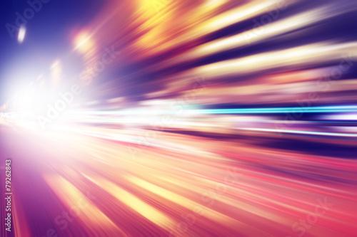 obraz PCV Abstrakcyjny obraz światła nocy z w mieście.