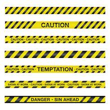 Spiritual Caution Tape Illustr...