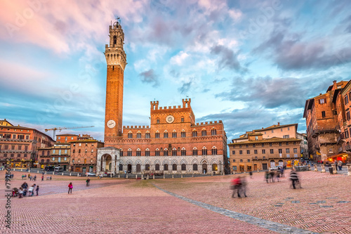 Piazza del Campo in Siena Canvas-taulu