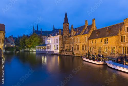 Deurstickers Brugge Bruges, Belgium