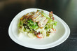 Roasted duck meat salad