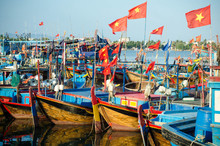 Fishing Boats In Marina At Nha Trang, Vietnam