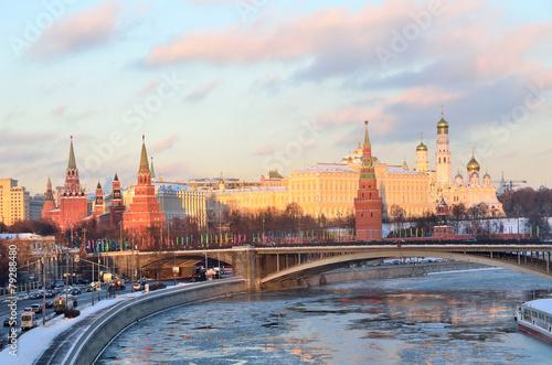 Fototapety, obrazy: Московский Кремль зимой