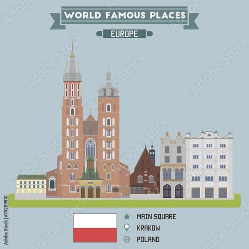 Fototapeta Main Square. Krakow, Poland obraz