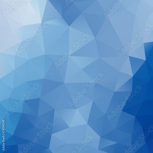 Fototapety, obrazy: Blue polygonal background
