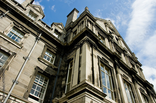 Photo  A building at Trinity college campus in Dublin Ireland, view fro