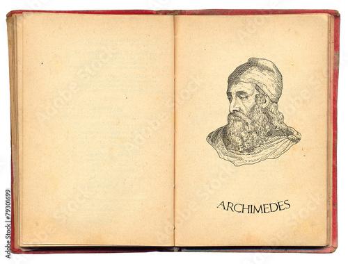 Archimedes illustration Wallpaper Mural