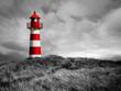 canvas print picture - Rot-Weißer Leuchtturm