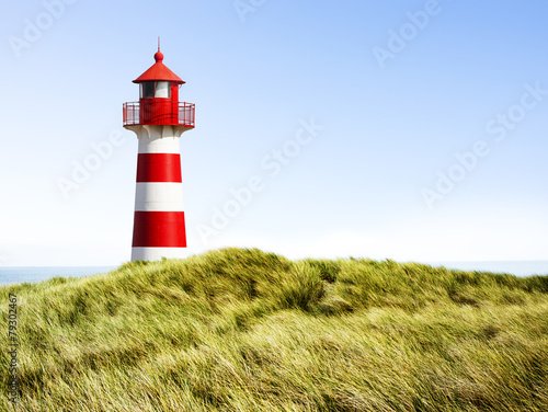 Canvas Prints Lighthouse Rot-Weißer Leuchtturm