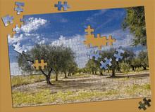 Foto Puzzle In Costruzione Su Tavolo