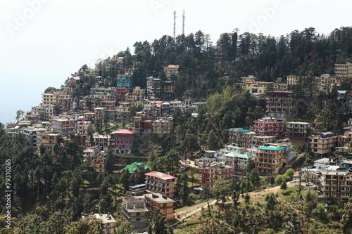 Tableau sur Toile Die Stadt Dharamsala in Indien