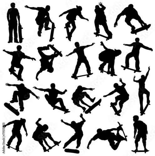 Skateboarding Silhouette, Skaters, Extreme Sport