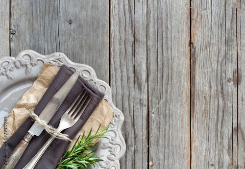 Fotografía  Vintage Table setting