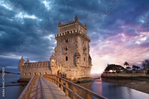 fototapeta na drzwi i meble Tour de Belém Lisbonne Portugalia