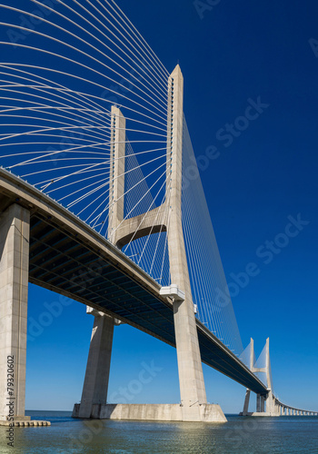 Vasco da Gama Bridge in Lisbon - 79320602