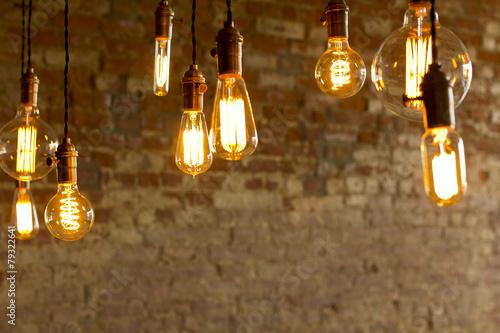 Carta da parati Antique Light Bulbs