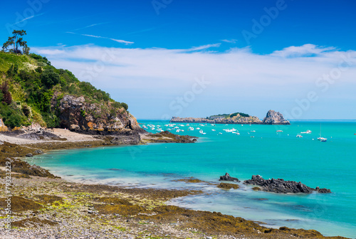 Canvas Print Cancale coast in Brittany  - France
