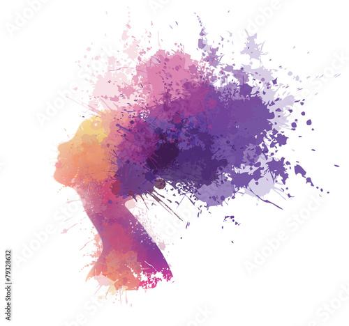 wektorowy-abstrakcjonistyczny-kolorowy-kobieta-portret