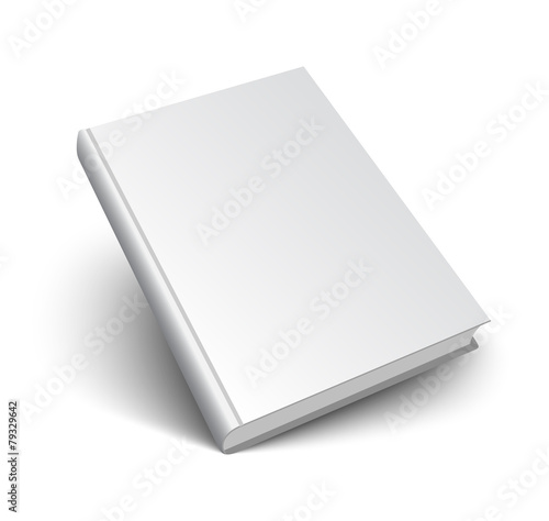 Fototapeta  blank vector book on white