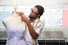 Male Fashion Designer And Mannequin