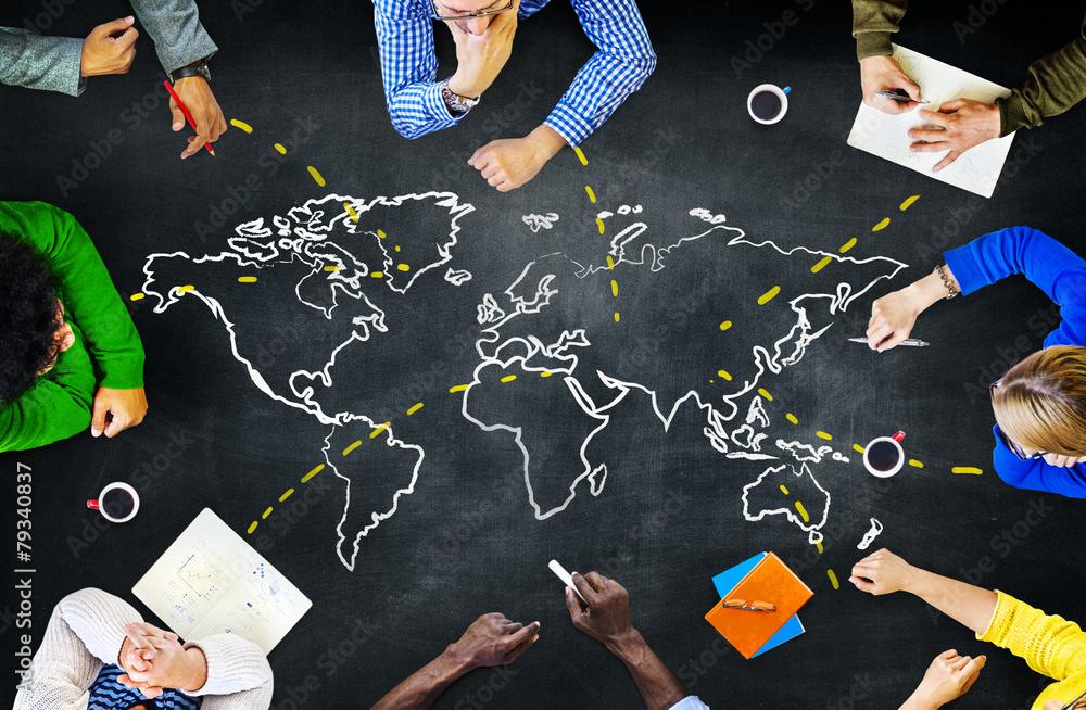 Fototapety, obrazy: World Global Ecology International Unity Learning Concept