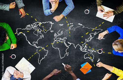 Fototapeta World Global Ecology International Unity Learning Concept obraz