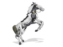 Horse Robot. 3d Illustration O...