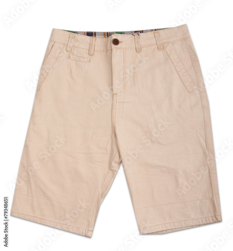 Fotografía  Men's shorts isolated on white background
