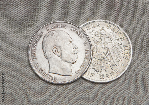 Fotografija  Old silver coins of German reich