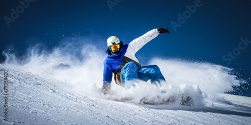 Canvas Prints Winter sports control