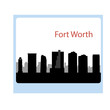 Fort Worth, Texas skyline. Detailed vector silhouette