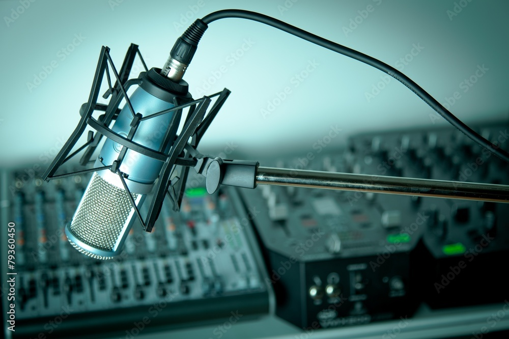 Fototapeta In radio studio