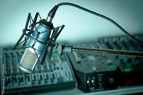 Obraz In radio studio - fototapety do salonu