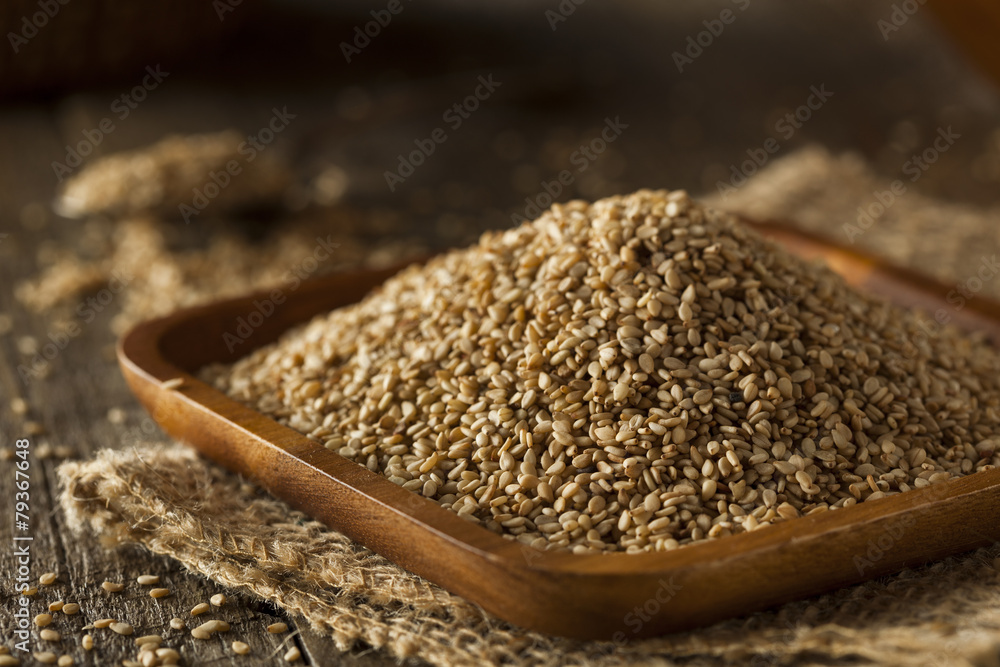 Fototapety, obrazy: Raw Organic Sesame Seeds