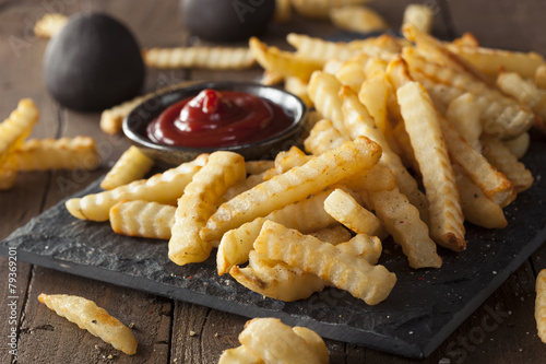 Fotografia, Obraz  Unhealthy Baked Crinkle French Fries