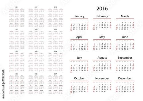 2016 2022 2023 Calendar.Calendar 2015 2016 2017 2018 2019 2020 2021 2022 2023 Stock Vector Adobe Stock