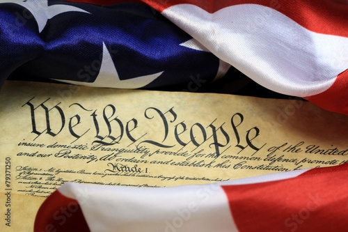 Carta da parati US Constitution - We The People